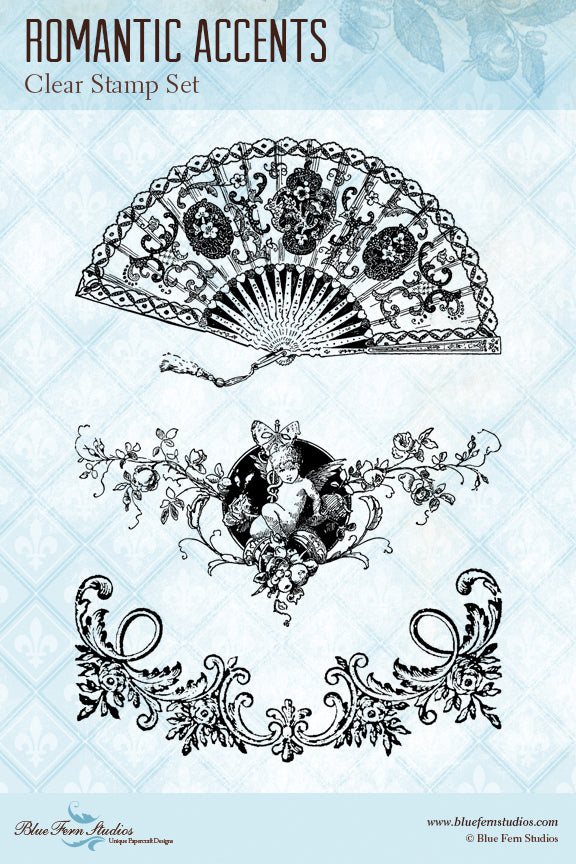 Blue Fern Stamp - Romantic Accents