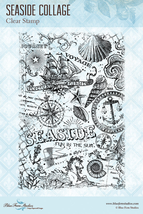 Blue Fern Stamp - Seaside Memories Stamp Set