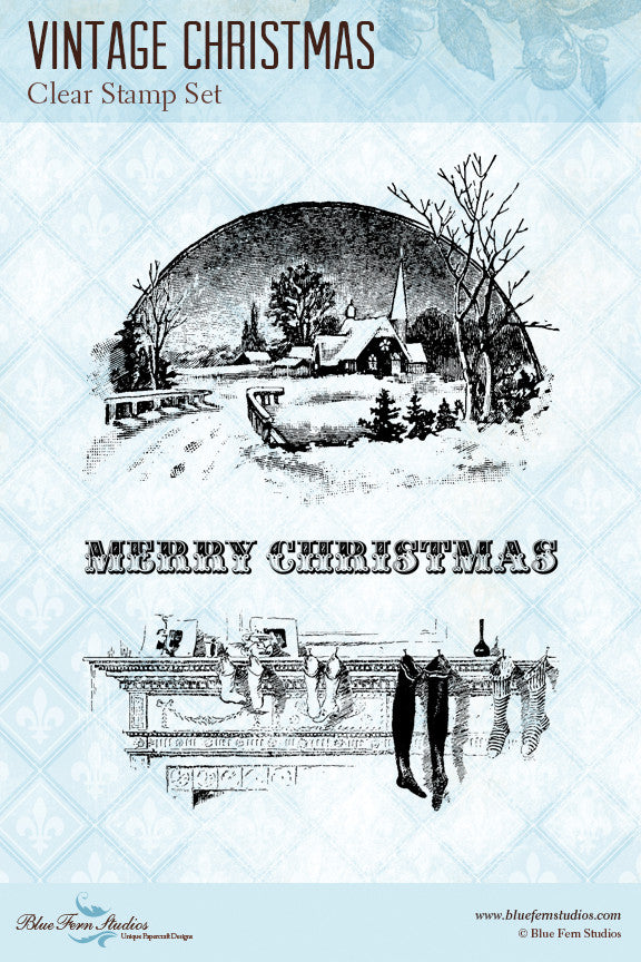 Vintage Christmas Stamp Set