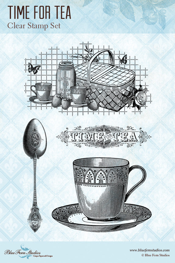 Blue Fern Stamp Set - Time for Tea