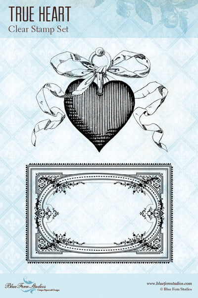 Blue Fern Stamp - True Heart