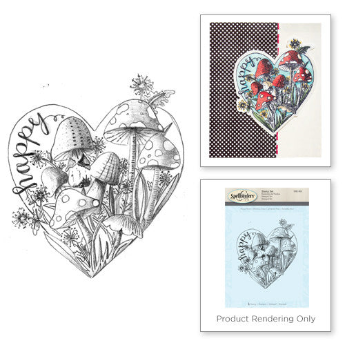 Spellbinders Happy Heart 3D Shading Stamp