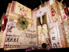 Hand-Stitched Jane Austen Mixed Media Book/Journal - HUGE!