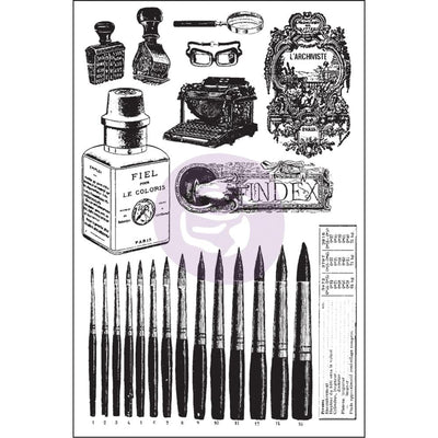 Prima Cling Mount Stamp - The Archivist - Stamp Set