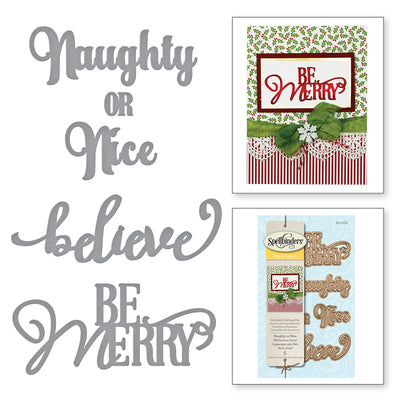 Spellbinders - DIE D LITES NAUGHTY OR NICE HOLIDAY ETCHED DIES