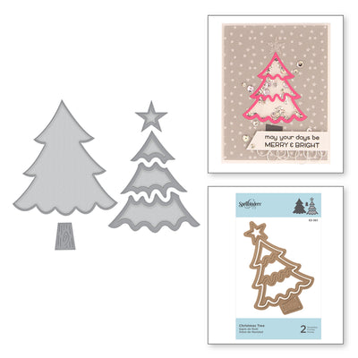 Spellbinders - D-LITES CHRISTMAS TREE ETCHED DIES HOLIDAY