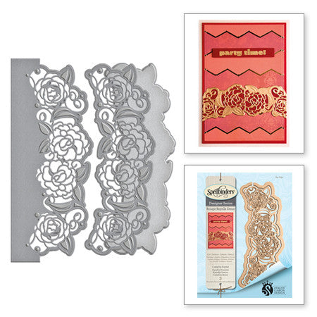 Spellbinders Shapeabilities Camellia Border Die - Rouge Royale Deux Collection by Stacey Caron
