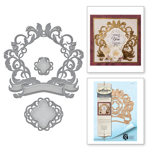 Spellbinders Designer Series - Royale Flourish - Rouge Royale by Stacey Caron