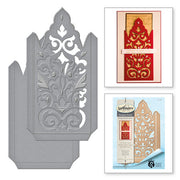 Spellbinders Shapeabilities Damask Pocket Etched Die - Rouge Royale Deux by Stacey Caron