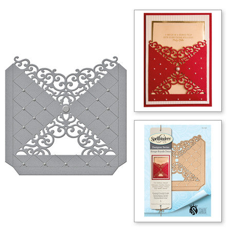 Spellbinders Shapeabilities Diamond Flourish Pocket Etched Die - Rouge Royale Deux Collection by Stacey Caron