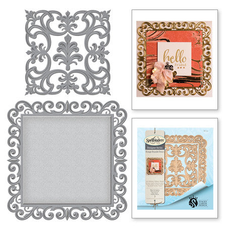 Spellbinders Shapeabilities Fleur de Square Die - Rouge Royale Deux Collection by Stacey Caron