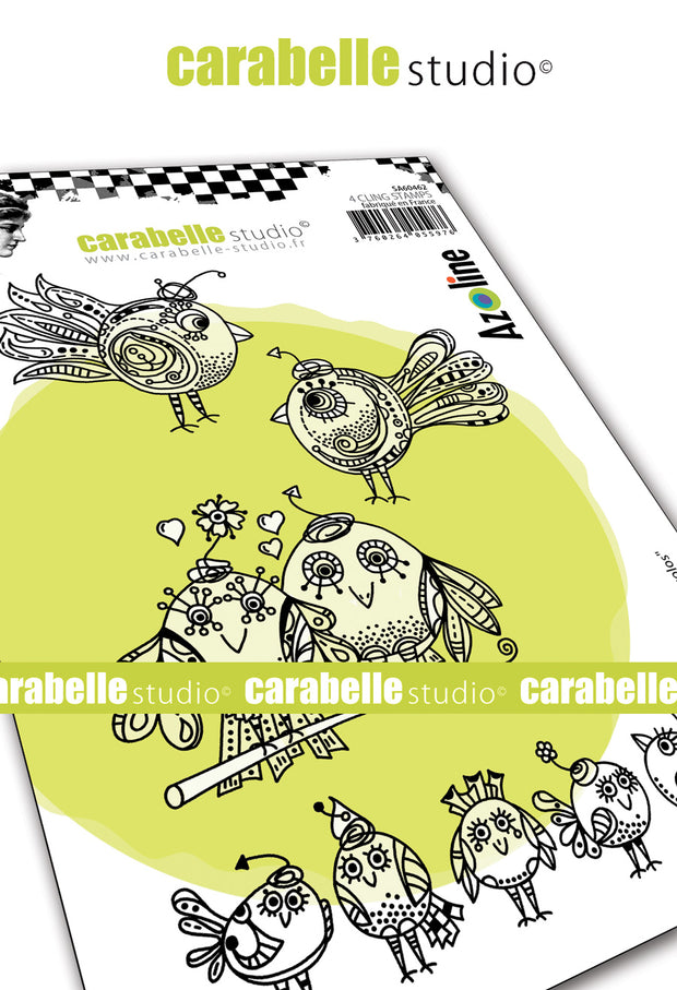 "Carabelle Studio - ""Cling Stamp A6 : ""Funny Zoziaux"" by Azoline"