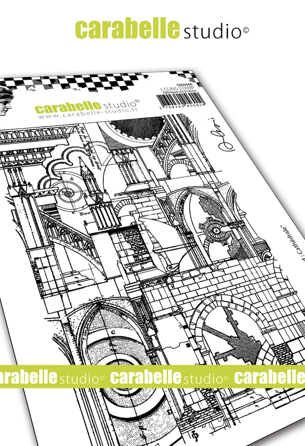 "Carabelle Studio - ""Cling Stamp A6 : ""Cathédrale"" by Alexis - NEW - PRE-ORDER"
