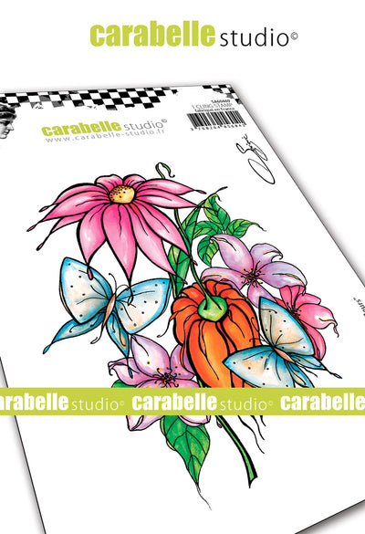 "Carabelle Studio - ""Cling Stamp A6 : ""Among the Flowers"" by Soizic"