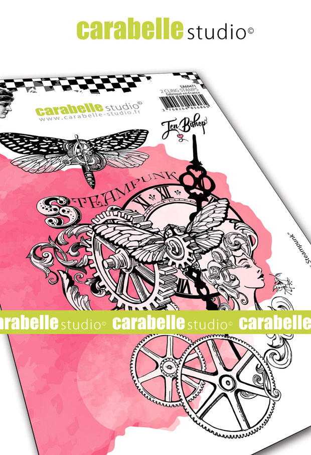 "Carabelle Studio - ""Cling Stamp A6 : ""Steampunk Chronicles"" by Jen Bishop"