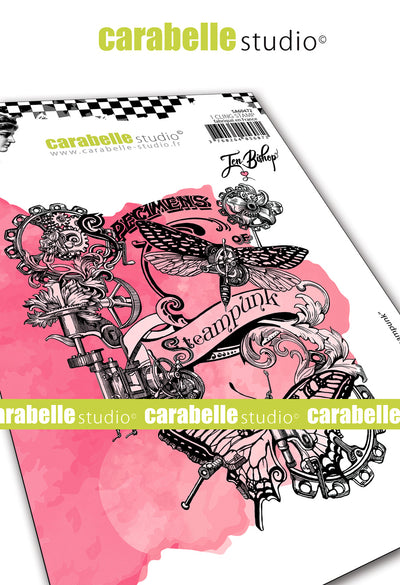 "Carabelle Studio - ""Cling Stamp A6 : ""Steampunk Collage"" by Jen Bishop"