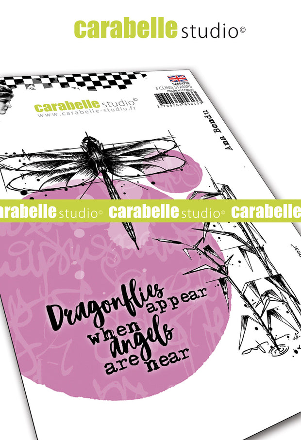"Carabelle Studio - ""Cling Stamp A6 : ""Angels are Near"" by Ana Bondu - NEW"