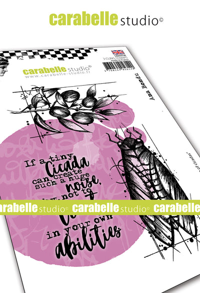 "Carabelle Studio - ""Cling Stamp A6 : ""The Singing of Cicadas"" by Ana Bondu - NEW - PRE-ORDER"
