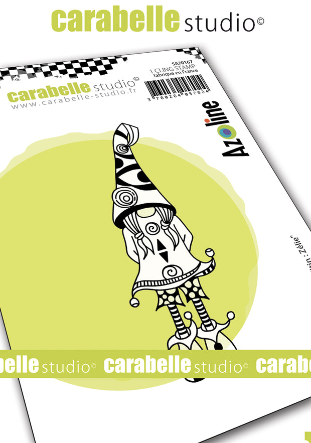 "Carabelle Studio - ""Cling Stamp A7 : ""Zelie"" by Azoline - NEW - PRE-ORDER"
