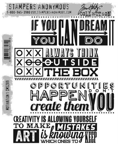 STAMPERS ANONYMOUS - TIM HOLTZ - MOTIVATION 1 - STAMP SET