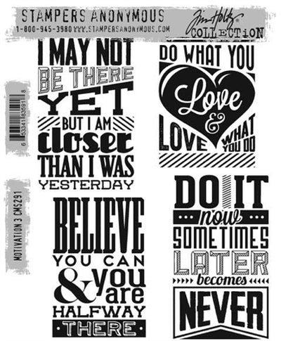 STAMPERS ANONYMOUS - TIM HOLTZ - Motivation 3 - Stamp Set