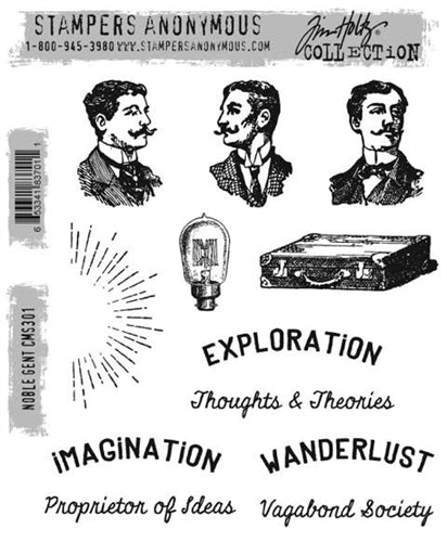STAMPERS ANONYMOUS - TIM HOLTZ - Noble Gent - Stamp Set