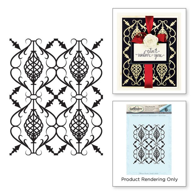 Spellbinders - REBEL FORGED IRON STAMP REBEL ROSE BY STACEY CARON