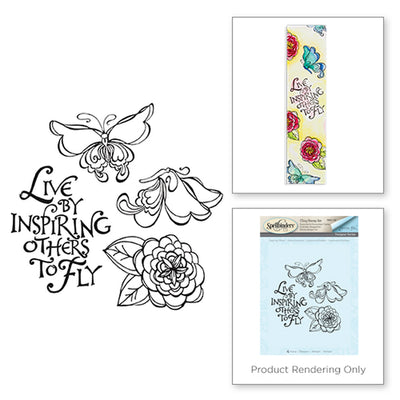 Spellbinders - Inspiring Others - Cling Stamp Set