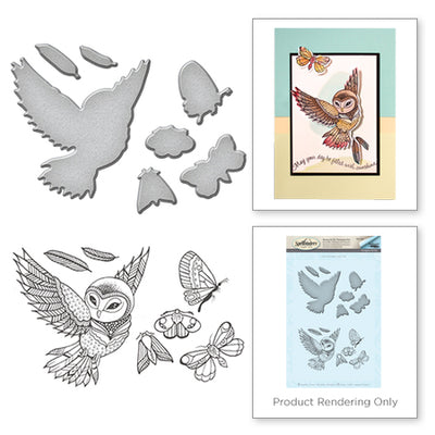 Spellbinders Owl Stamp and Die Set - Spring Love Collection by Stephanie Low