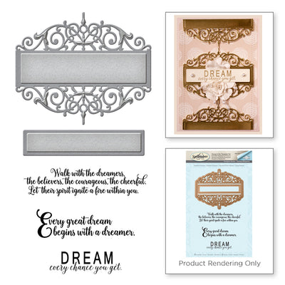 Spellbinders Shapeabilities Beautiful Dreamer Stamp & Die Set - Amazing Grace Paper Grace Vintage Elegance by Becca Feeken