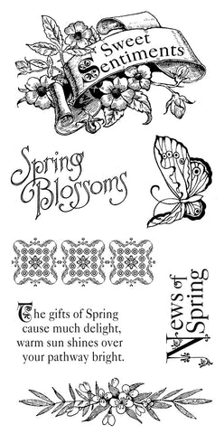 Graphic 45 Sweet Sentiments Cling Stamp Set #1
