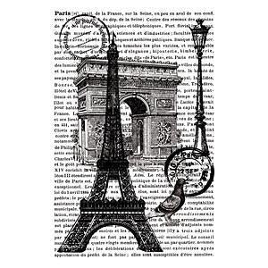 Artemio - Paris with Text Stamp