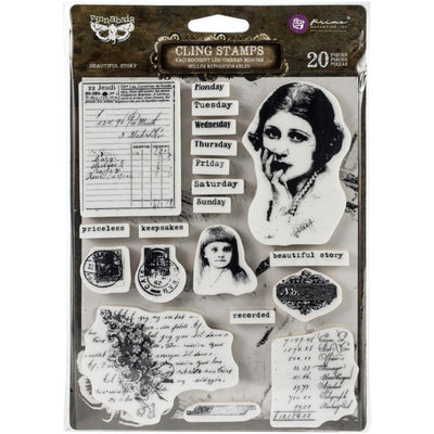 Prima Marketing - Finnabair - Cling Rubber Stamp Set - Beautiful Story