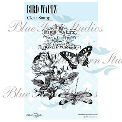 Blue Fern Stamp - Bird Waltz - NEW