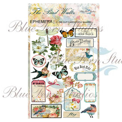 Blue Fern - Bird Waltz Ephemera - Bird Waltz Collection- by Jen Bishop - NEW