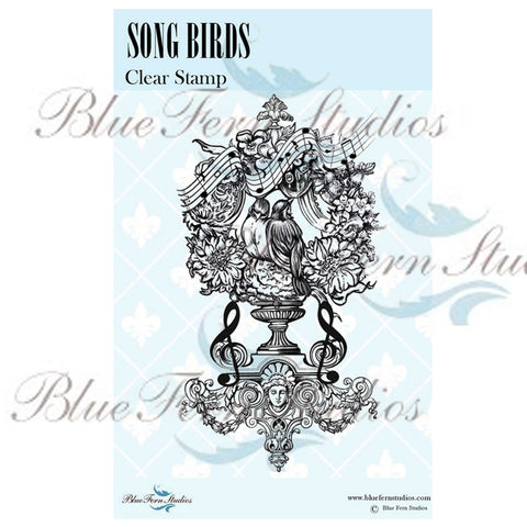 Blue Fern Stamp - Song Birds - PRE-ORDER