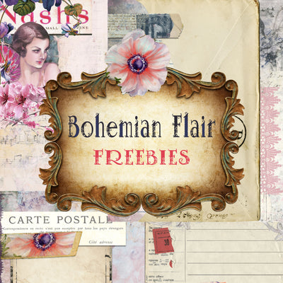 Bohemian Flair - DIGITAL Paper Design - FREEBIES