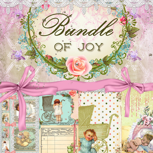 Bundle of Joy Digital Paper Collection - 10 Papers/Designs