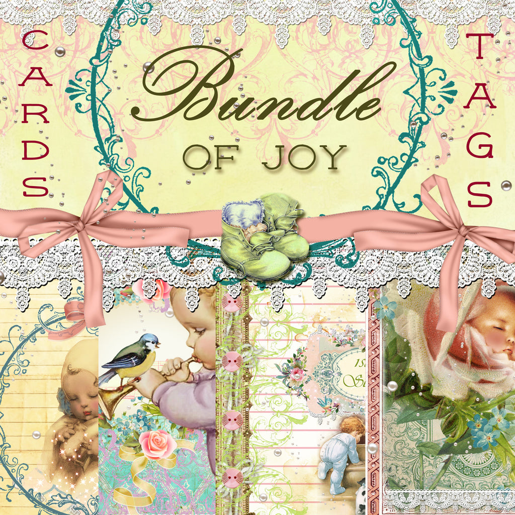 Bundle of Joy Digital Paper Collection - Tags & Journal Cards