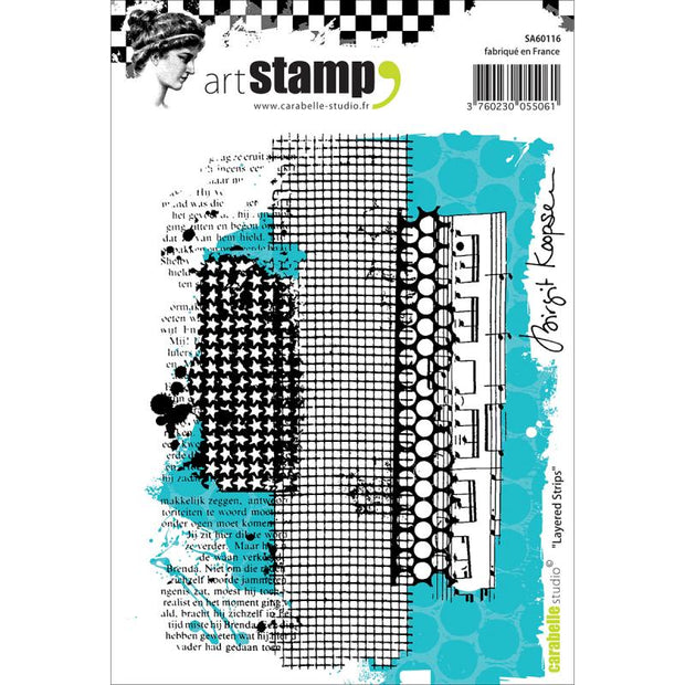 "Carabelle Studio - ""Cling Stamp A6 : ""Layered Strips"" by Birgit Koopsen"
