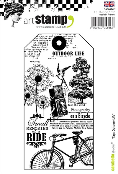 Carabelle Studio Cling Stamp - Outdoor Life Tag - A6