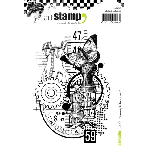 "Carabelle Studio Cling Stamp A6 - ""Model Steampunk"""