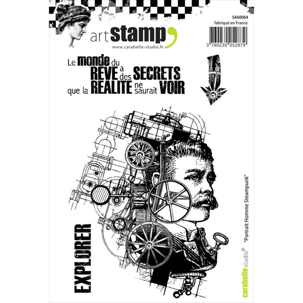 "Carabelle Studio Cling Stamp A6 - ""Steampunk Man Portrait"""