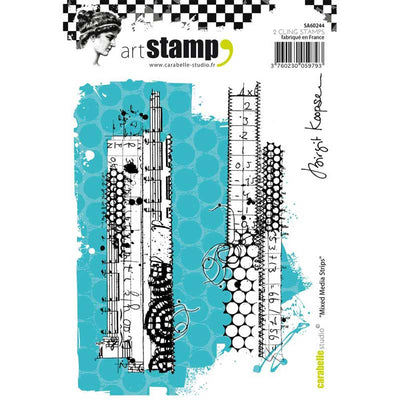 "Carabelle Studio - ""Cling Stamp A6 : ""Mixed Media Strips"" by Birgit Koopsen"