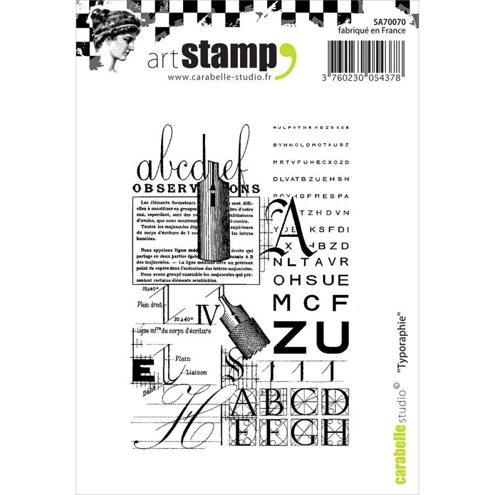 "Carabelle Studio Cling Stamp A6 - ""Typography"""