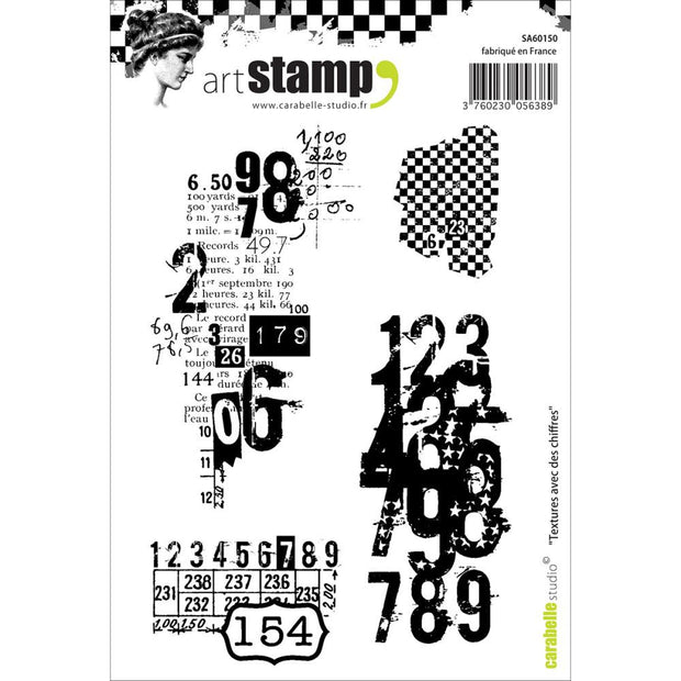 "Carabelle Studio Cling Stamp A6 - ""Textures with Numbers"""