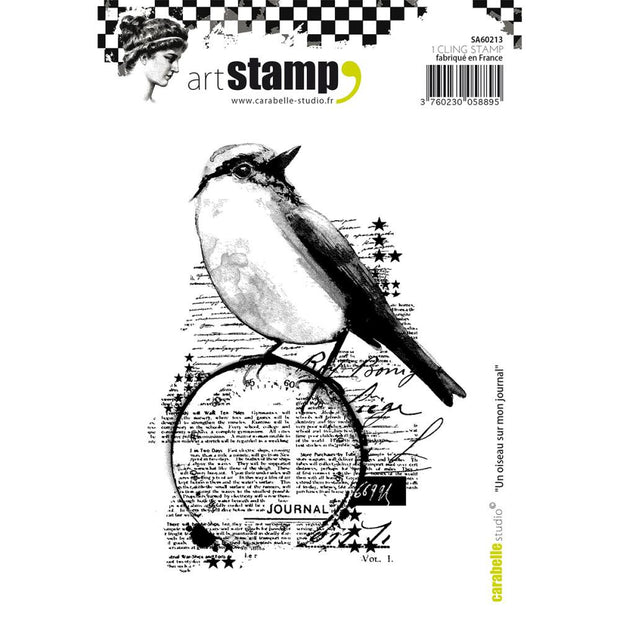 "Carabelle Studio Cling Stamp A6 - ""A Bird on My Diary"""