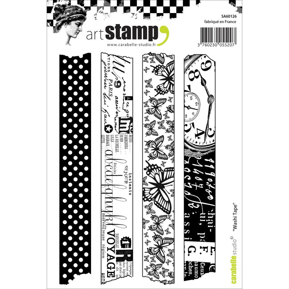 "Carabelle Studio Cling Stamp A6 - ""Washi Tape"""