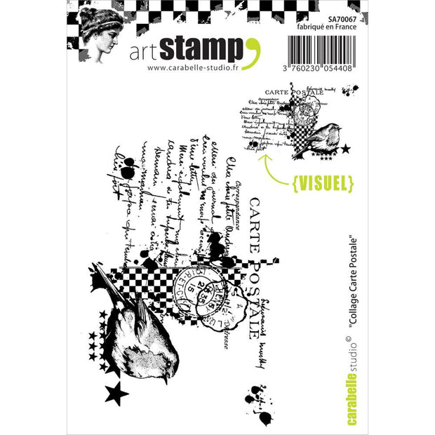 "Carabelle Studio Cling Stamp A7 - ""Post Card Collage"""
