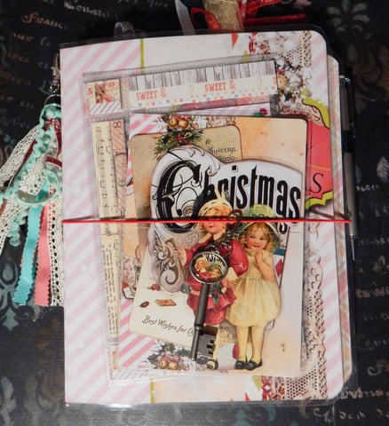 Traveler's Journal - Vintage Christmas Charm - Boy & Girl